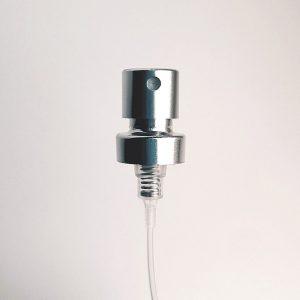 Atomizer srebrny – do zamknięcia przy pomocy maszynki do zaciskania